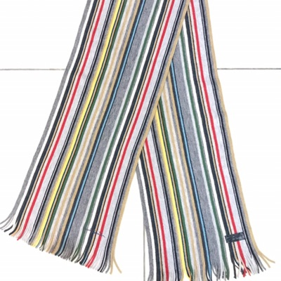 Authentic Paul Smith Striped Wool Muffler Scarf
