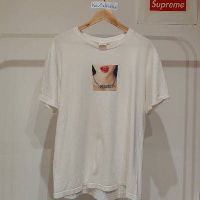 Supreme Necklace Tee White Size: M