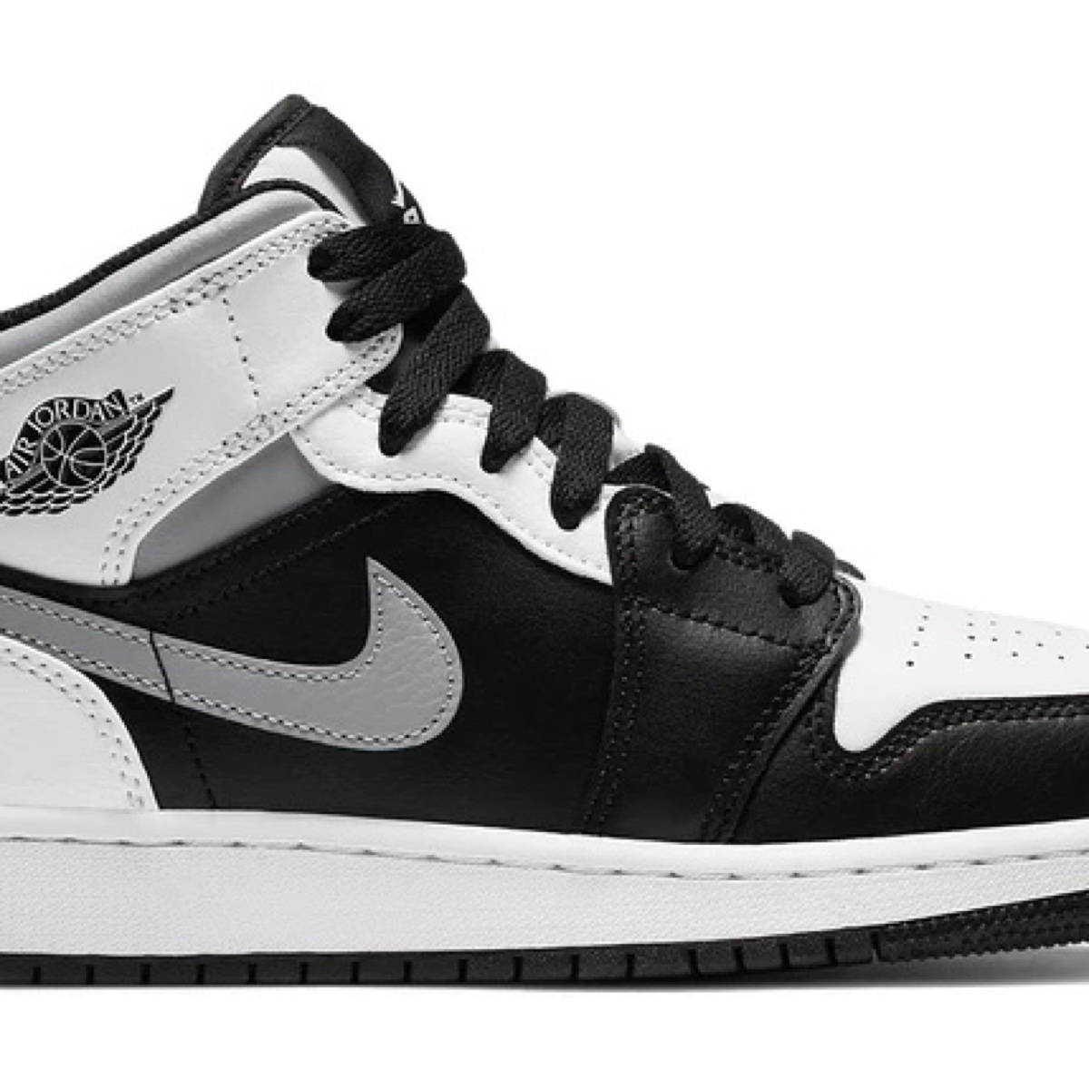 Jordan 1 mid White Shadow (Gs)