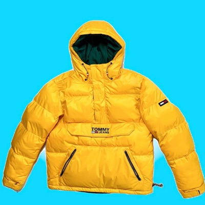 Yellow Tommy Jeans Pullover Jacket