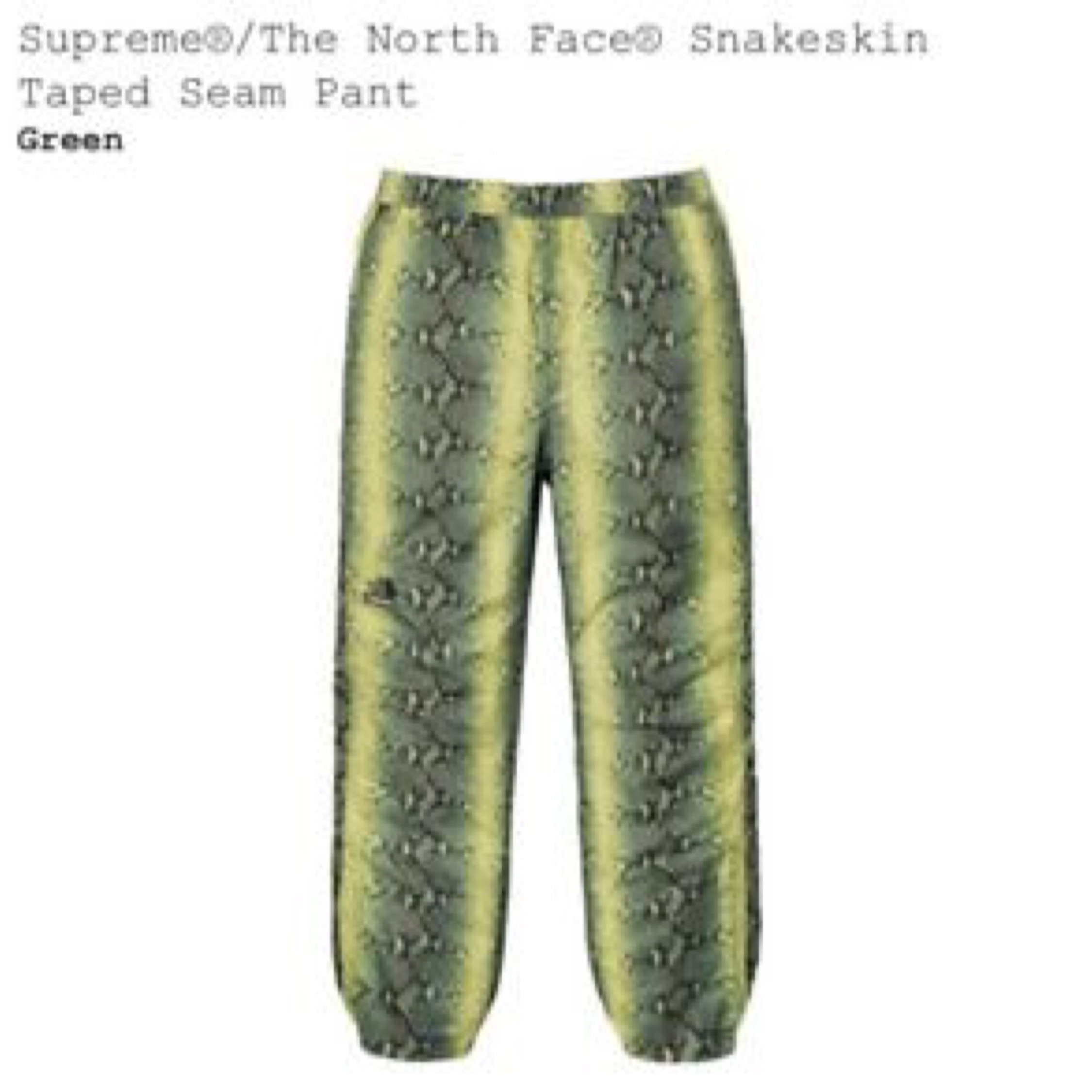 Supreme Tnf Snakeskin Bottoms