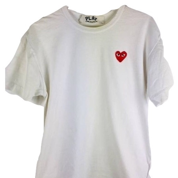 Comme Des Garcons T Shirt Red Heart T Shirt Large