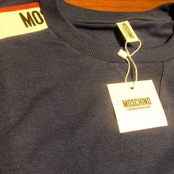 Moschino Logo Jumper Sweater In Blue