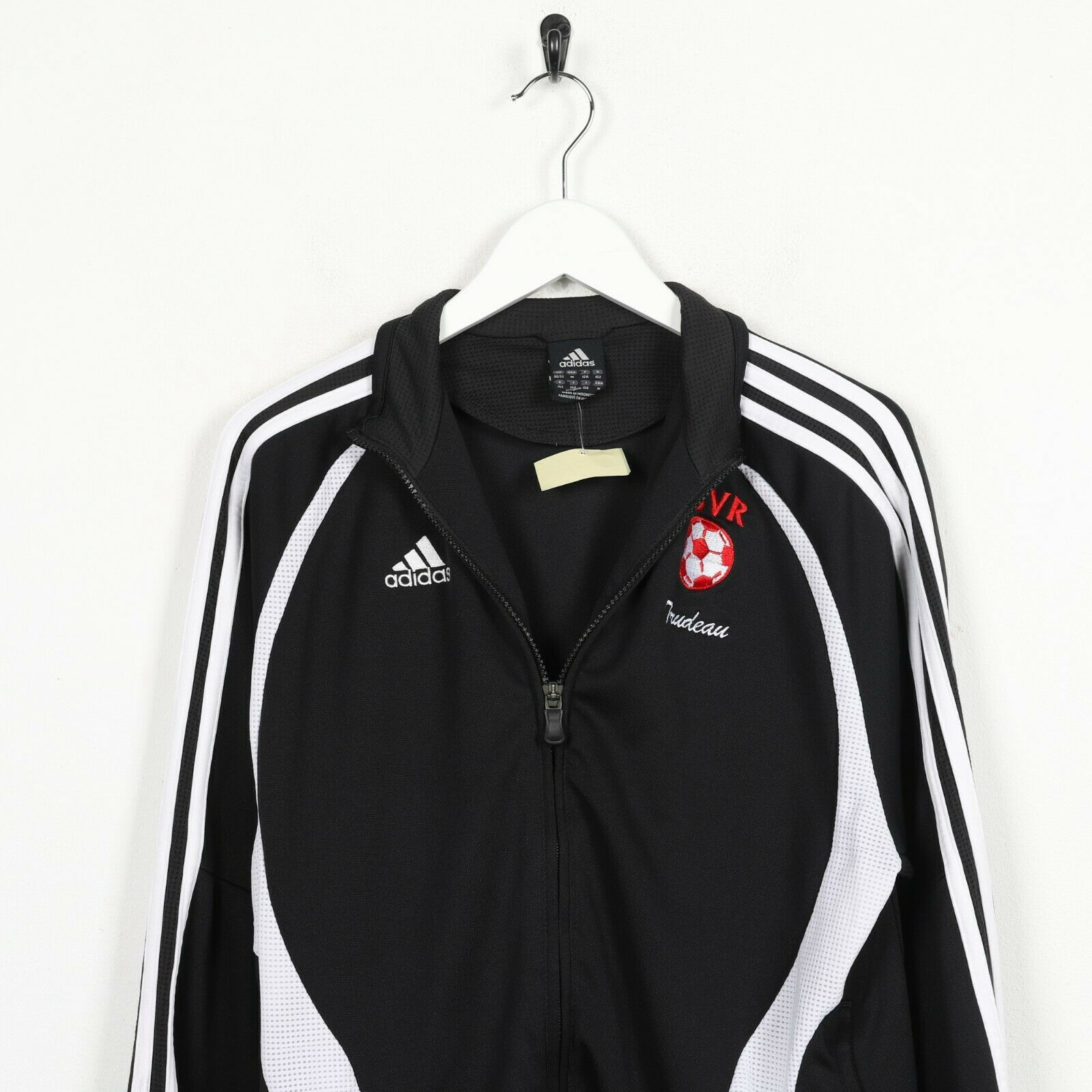 Vintage Kids ADIDAS Tracksuit Top Jacket Black Medium M