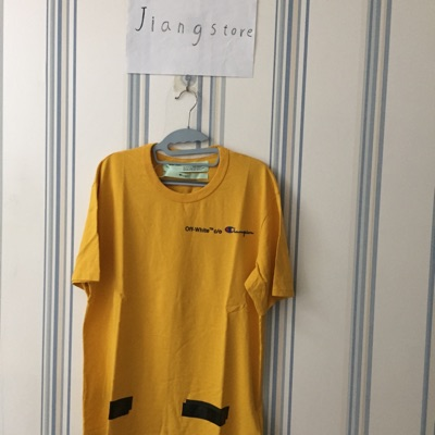 Off-White Champion Brand New Yellow Tee