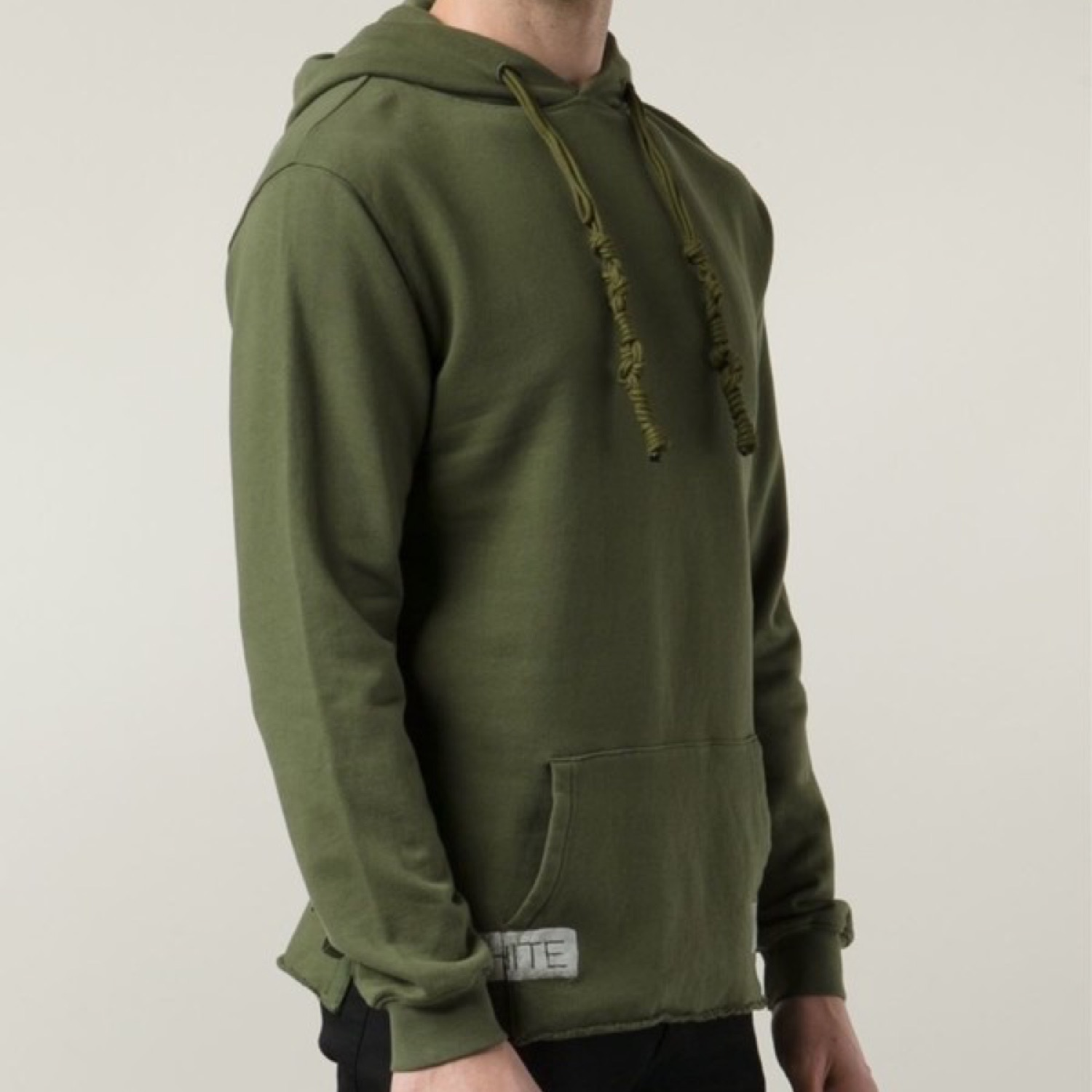 Off-White Olive Green Hoodie Size M Rarest Item