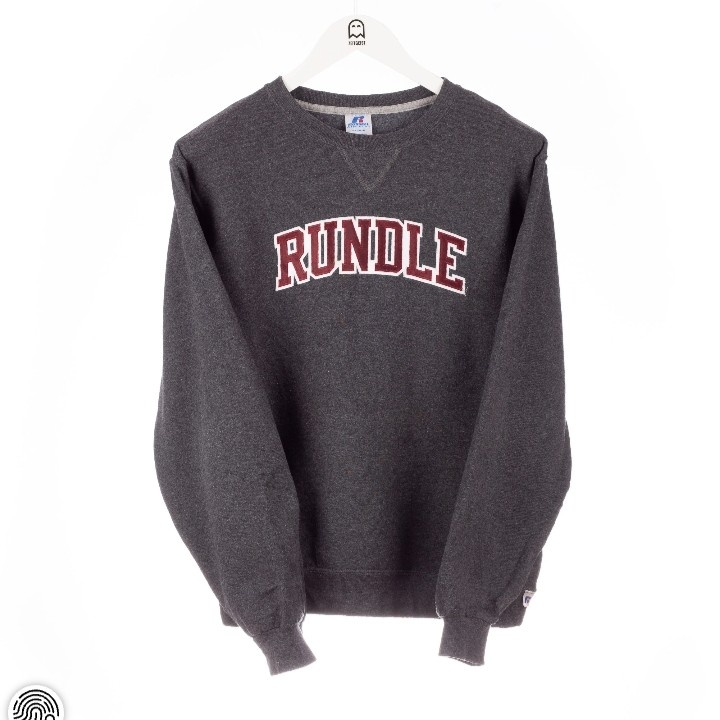 Vintage Russell Athletic  Rundle Embroidered Logo Sweatshirt Gray