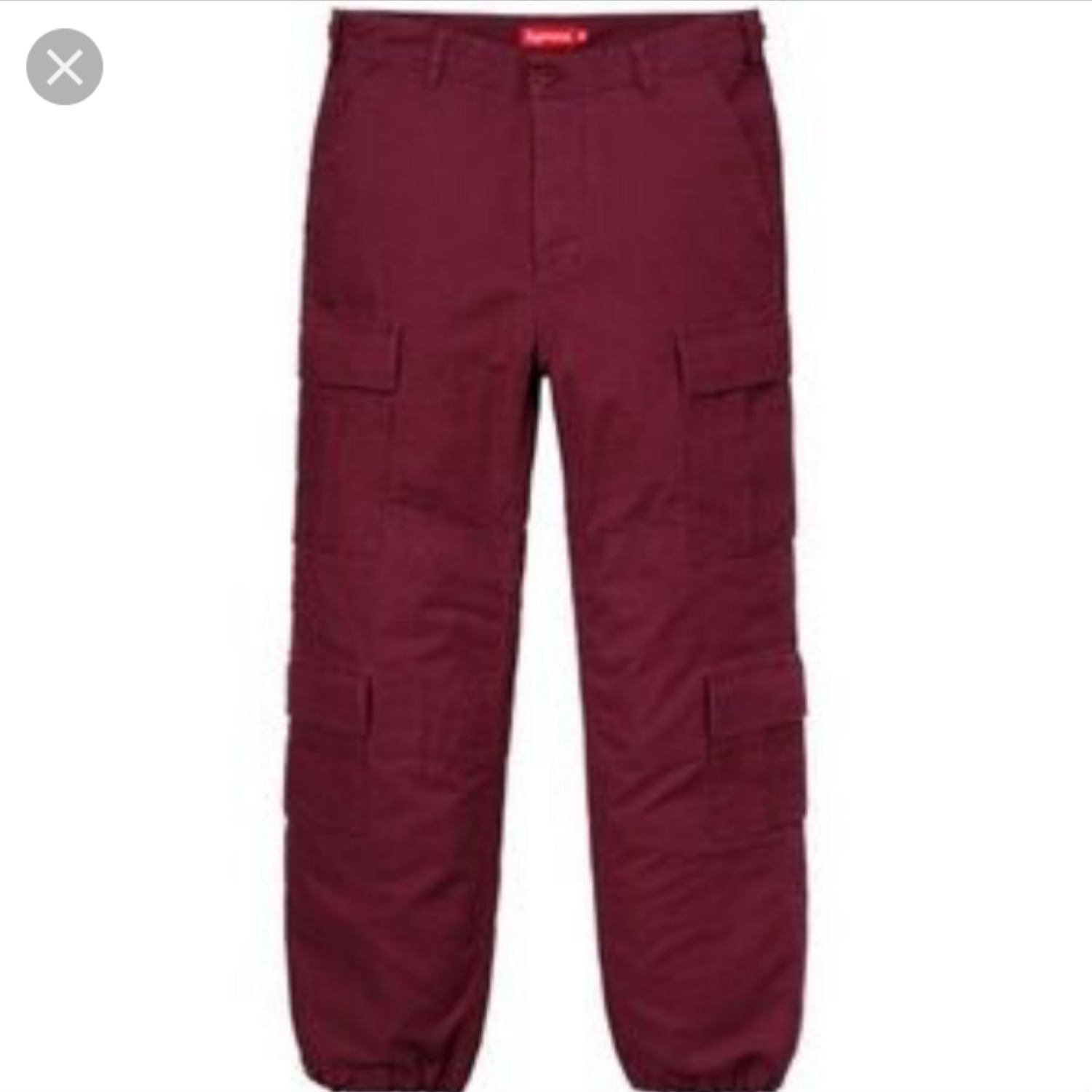 exquisite craftsmanship popular style to buy Red Supreme Cargo Pants (Ds)