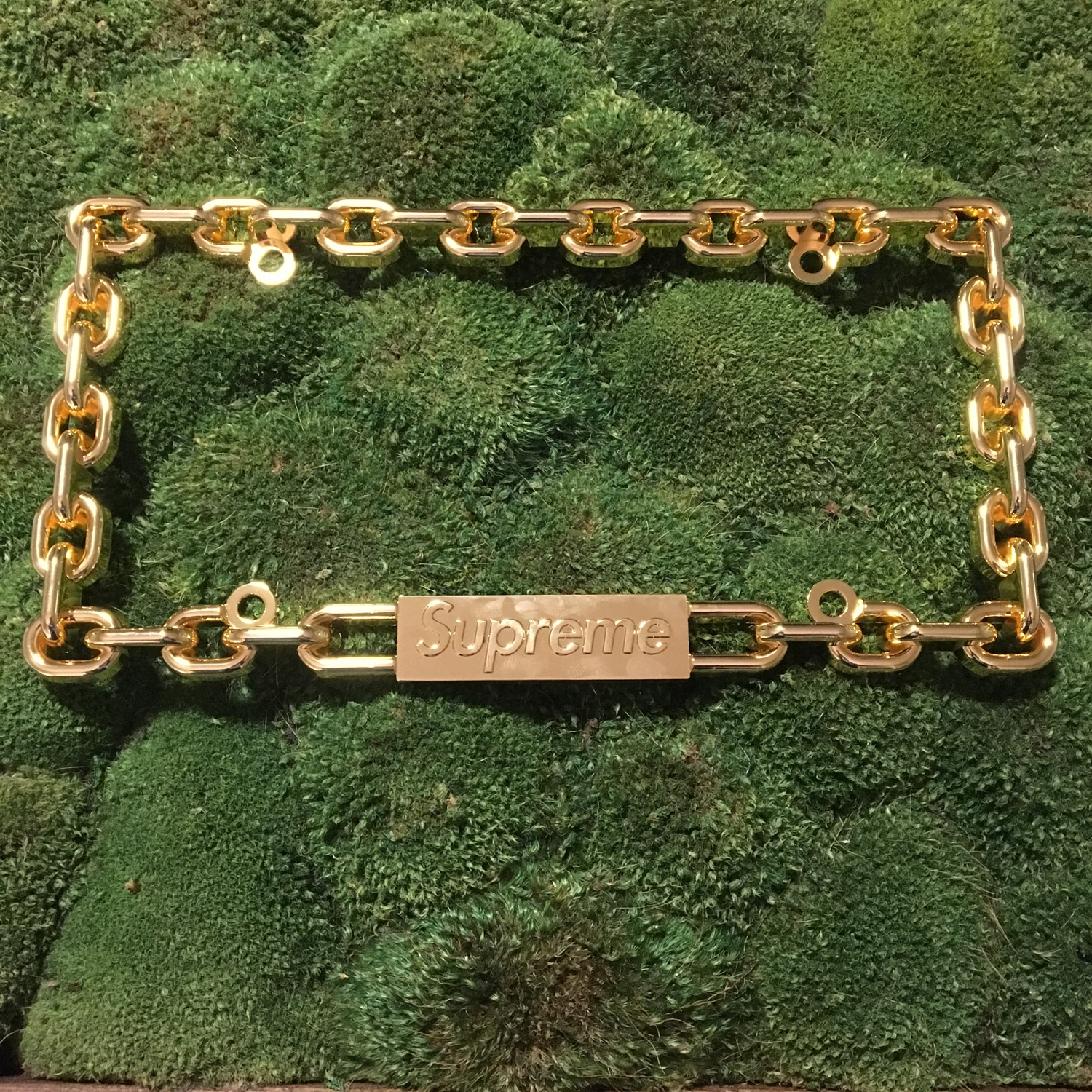 Supreme Chain License Plate Gold