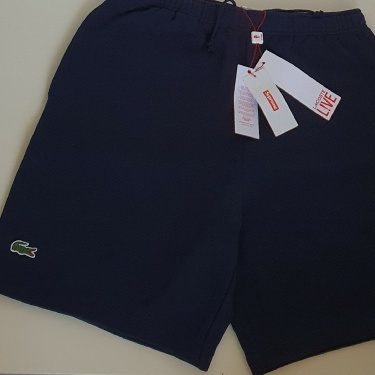 SS17 Supreme x Lacoste pique navy short size S small shorts