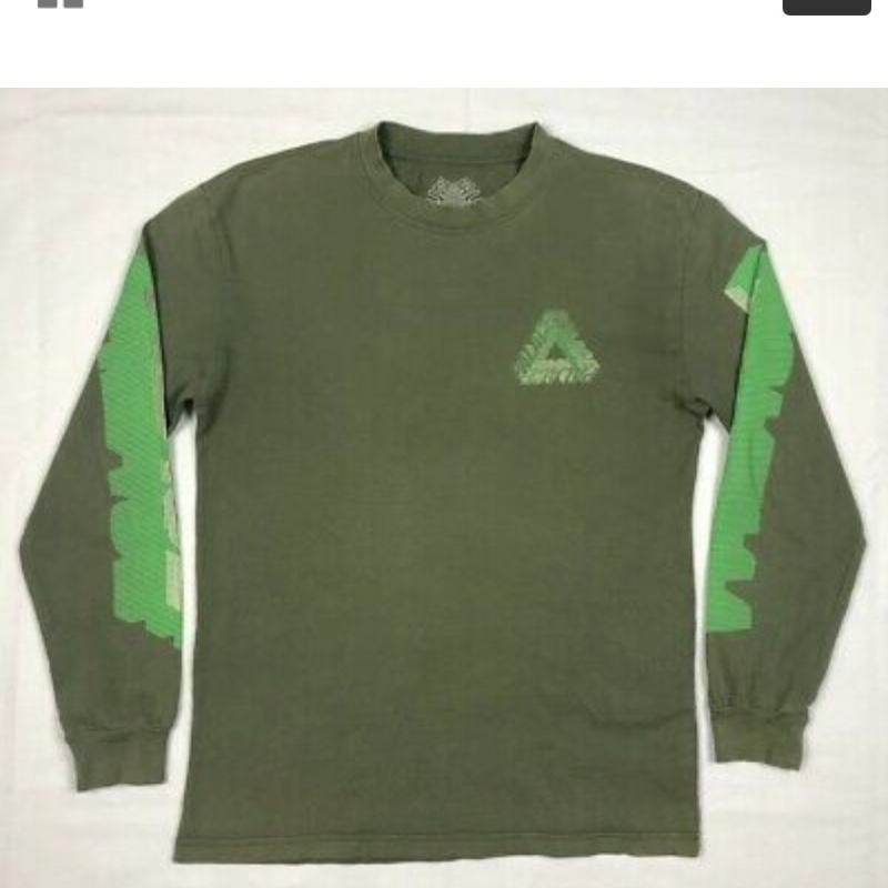 palace long sleeve t shirt green, ss17