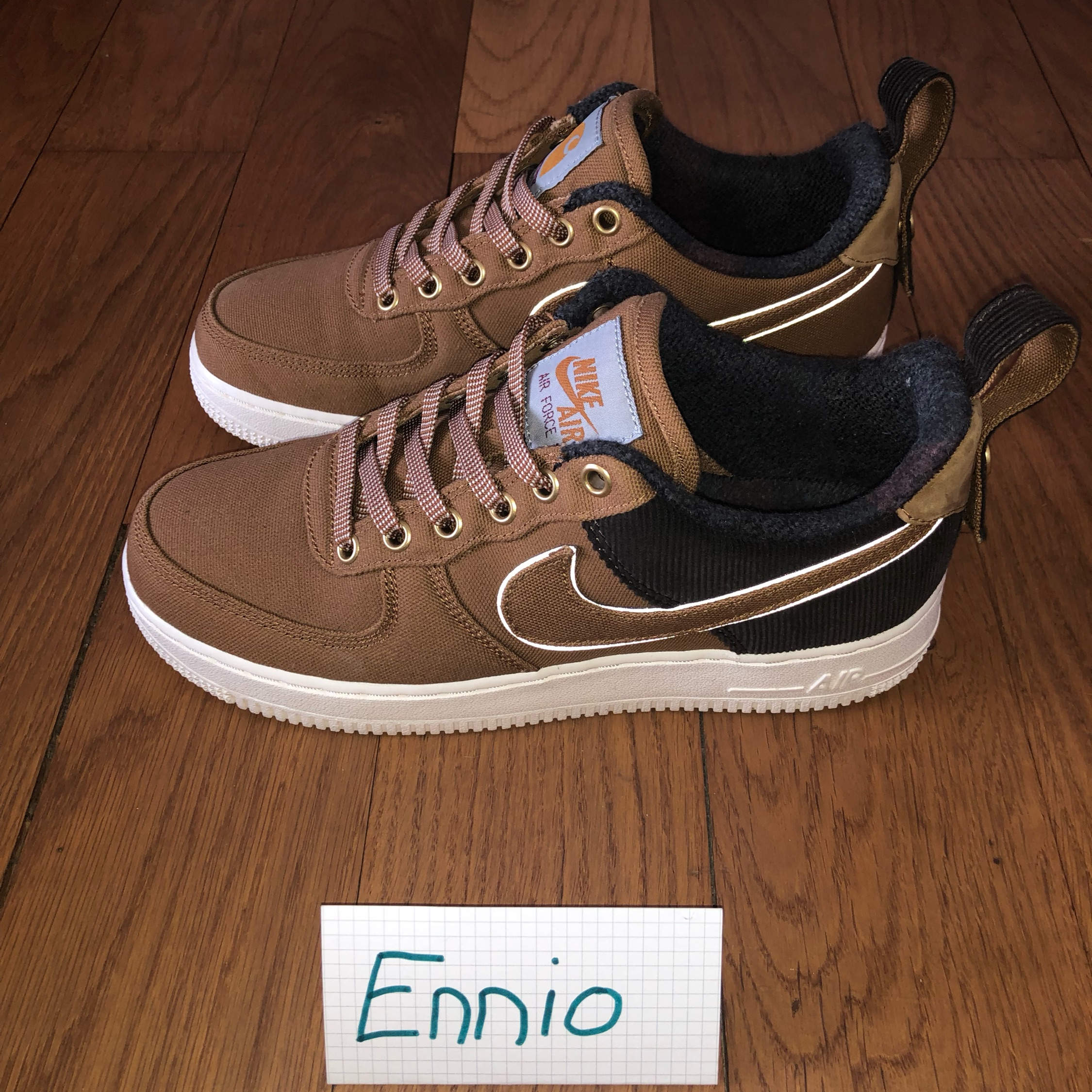 buy popular 4c5e3 0475a Carhartt X Nike Air Force 1 Low (3M Reflective)