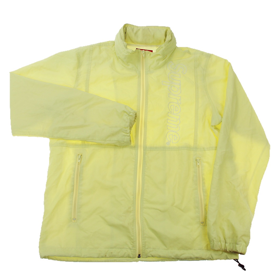 Supreme Yellow Embroidered Track Jacket