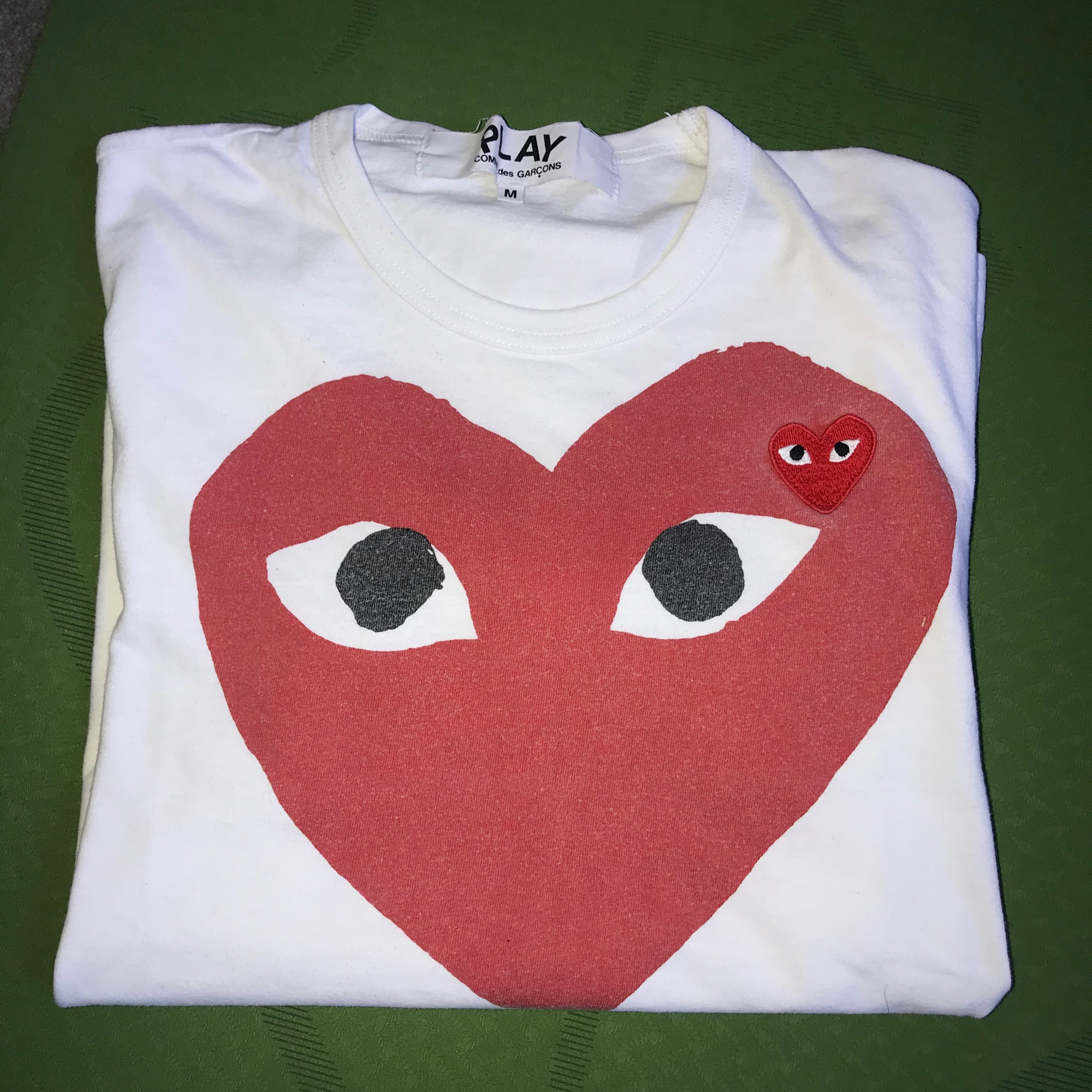 Cdg White And Red T-Shirt