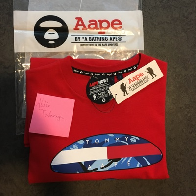 Tommy X Aape T-Shirt Red