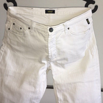 Versace Jeans White Flare Bootcut Pants White