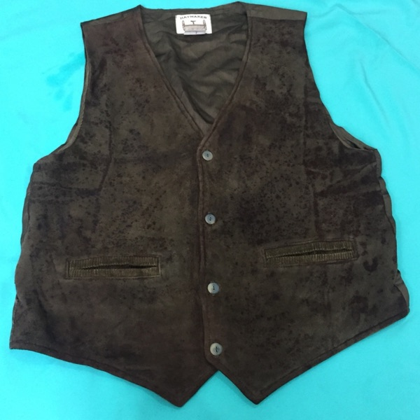 Vintage Outwear Buckskin Leather Vest Haymaker