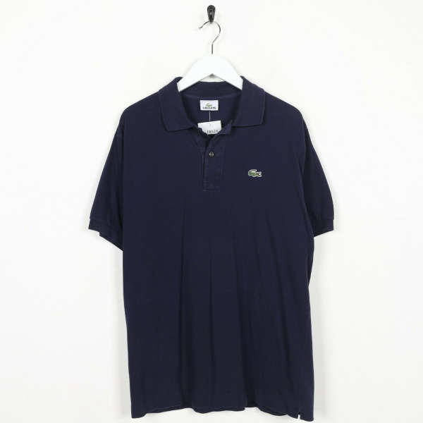Vintage LACOSTE Small Logo Polo Shirt Top Navy Blue | Size 5 | Medium M