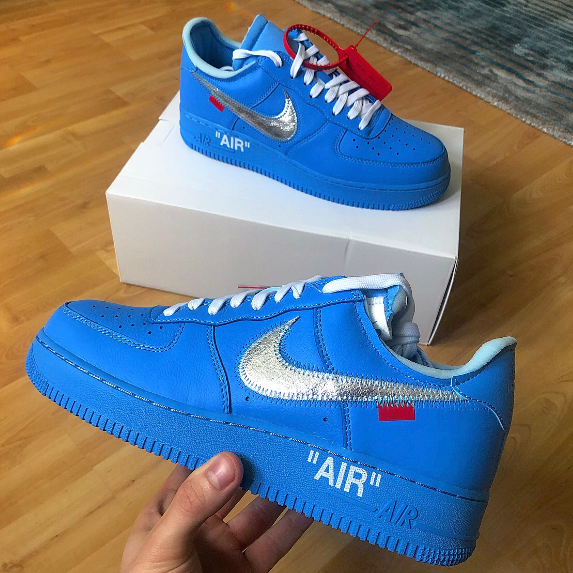 Off White Air Force 1 Mca Blue