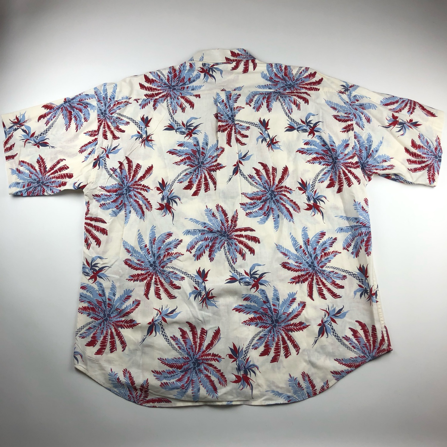 Vtg Tommy Hilfiger Hawaiian Print Button Up Shirt