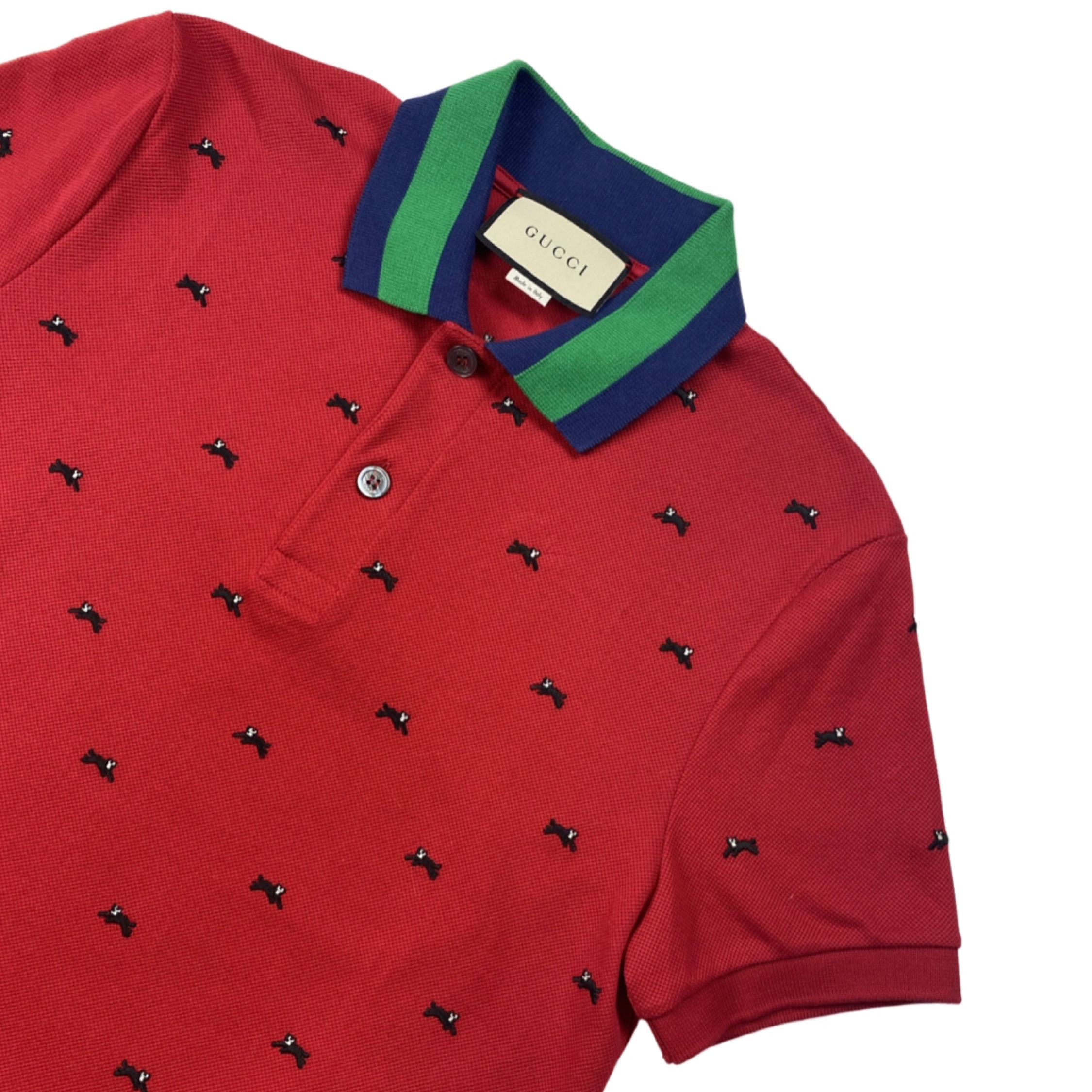 Gucci Red Cat Polo