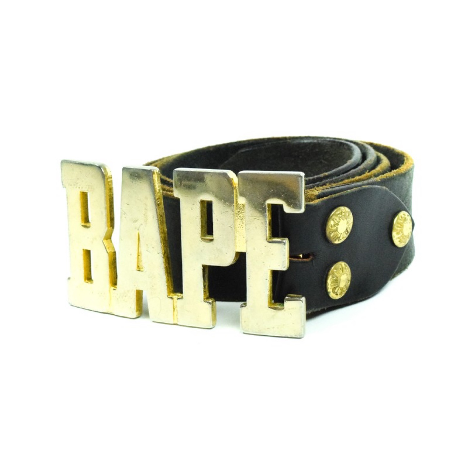 A Bathing Ape Logo Belt