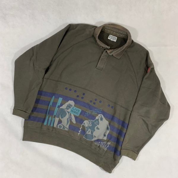 Cav Empt Long Sleeve Collared Sweatshirt - Size L