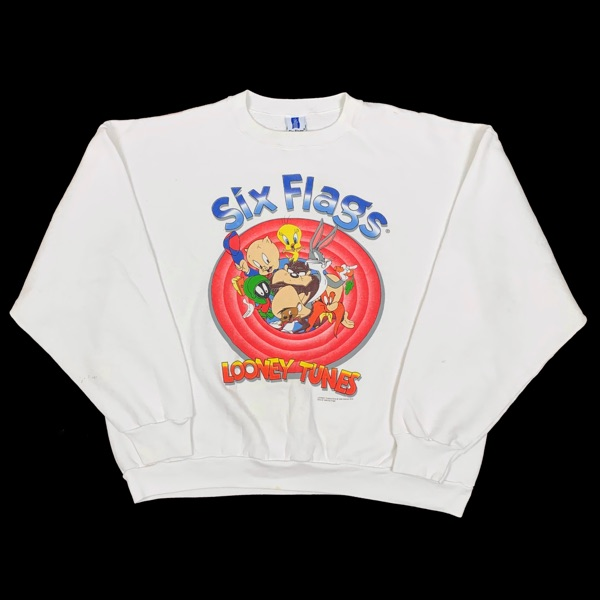 Vintage 1996 Looney Tunes Six Flags Sweatshirt