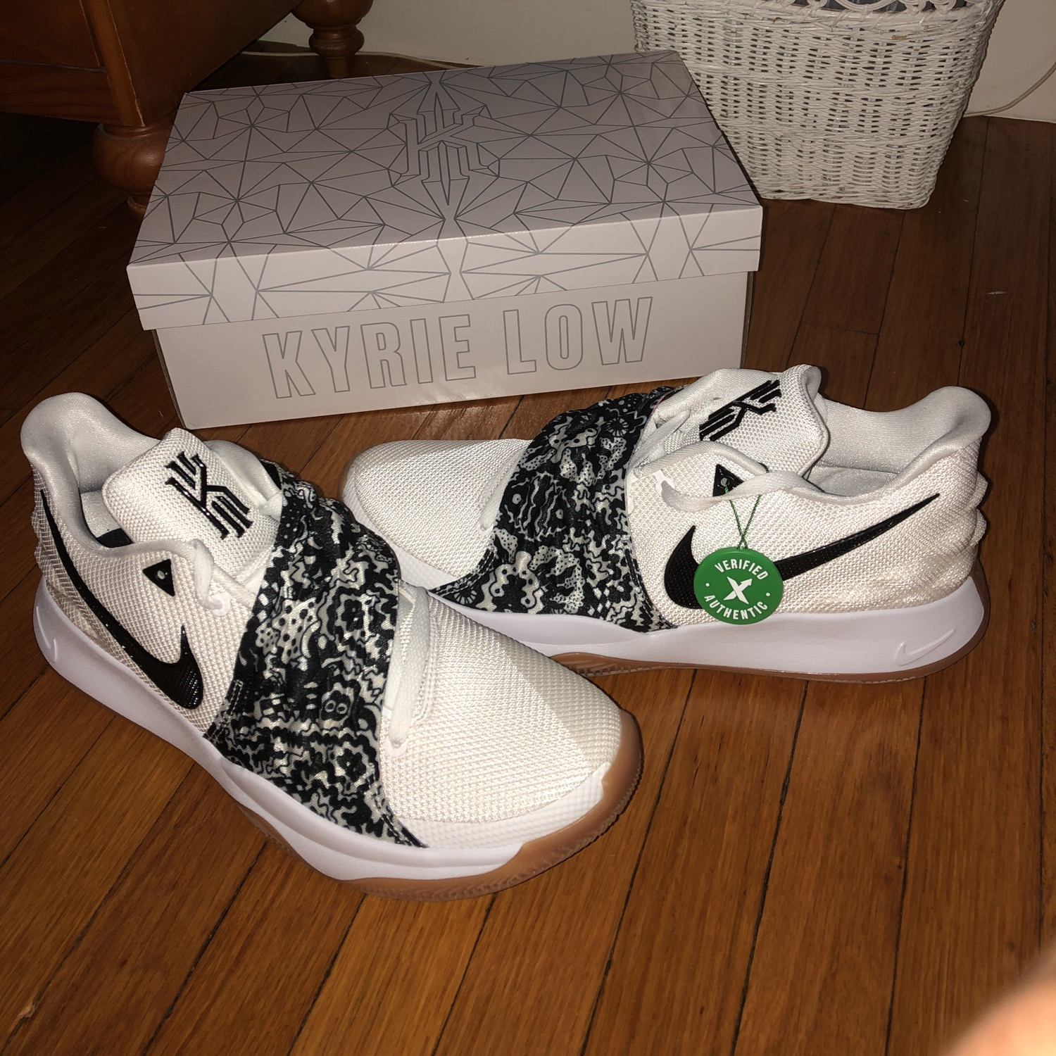 "various colors e889f 37459 Kyrie Low 1 ""White Black"""