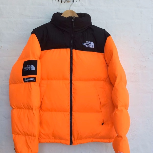 Supreme The North Face Nuptse Orange