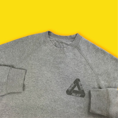 Palace 3M Reflective Crewneck Grey