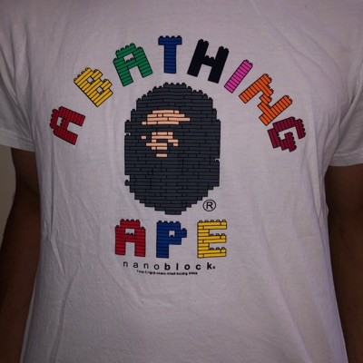 Bathing Ape Nano Block Tee W/ Bag