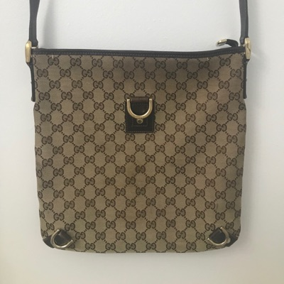 Gucci Gg Monogram Crossbody Shoulder Bag