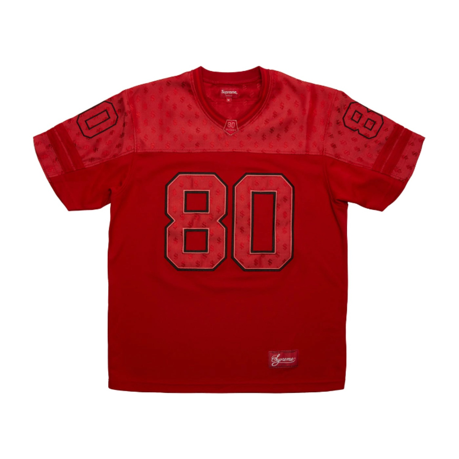 Ss18 Supreme Monogram Football Jersey Red Large