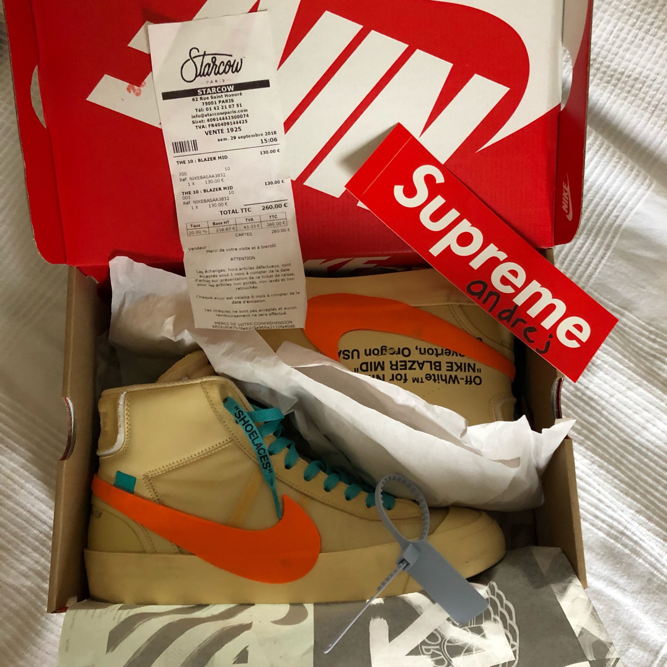 crazy price online for sale for whole family Nike Off White Blazer All Hallow's Eve Vanilla