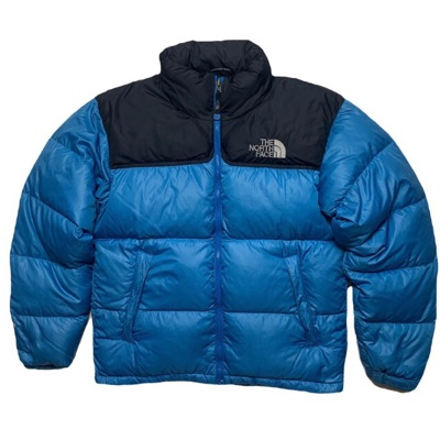 Blue North Face Nuptse Puffer Jacket 700