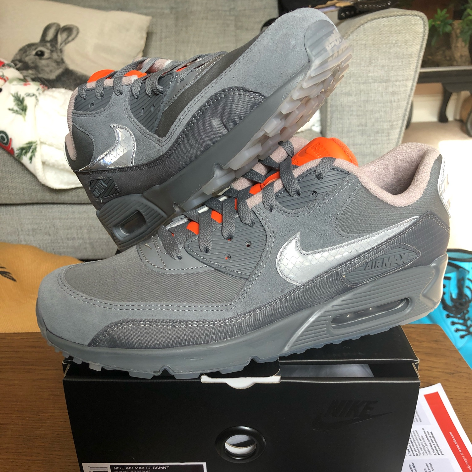 Nike X Basement Glasgow Air Max 90 Dswt In Hand