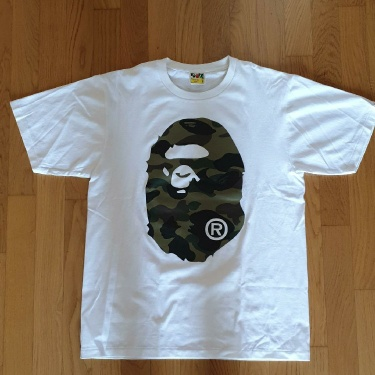 BAPE Reflector 1st Camo Big Ape Head Tee White/Yellow