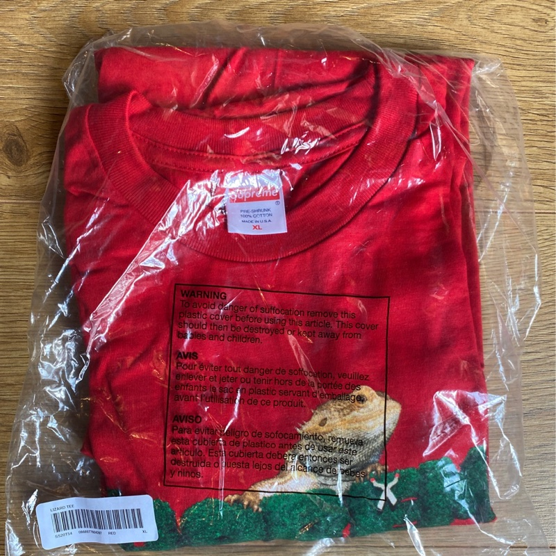 Supreme Lizard Tee Red
