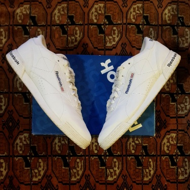 Reebok Ex-O Fit Lo Clean Logo Int White Royal Blue Size 9US