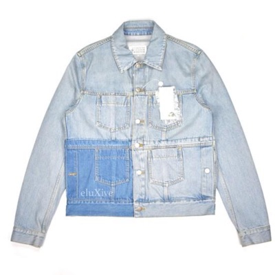 Maison Margiela Patchwork Denim Trucker Jacket Nwt