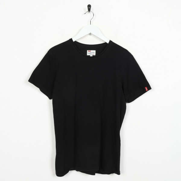 Vintage LEVI'S Small Logo T Shirt Tee Black small s