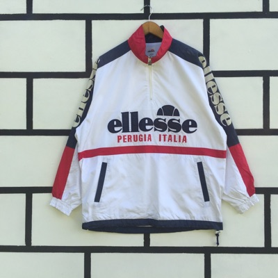Vintage Ellesse Windbreaker Jacket Half Zip Up