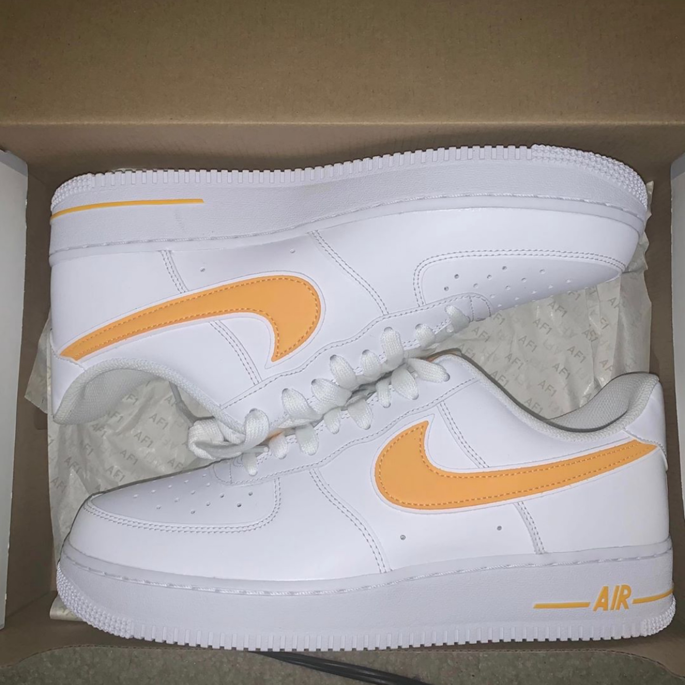 swoosh air force 1