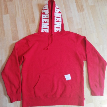 Supreme Mirrored Logo Hooded Sweatshirt (FW19) Red