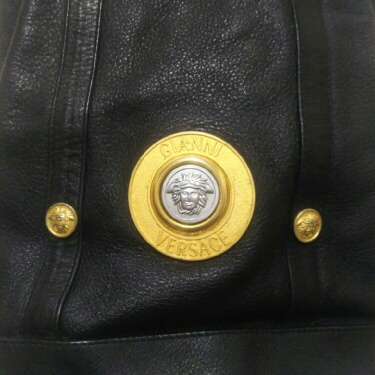 Gianni Versace Bucket Bag vintage Black Leather
