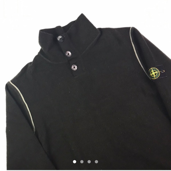 Vintage Stone Island Buttoned Roll Neck Jumper