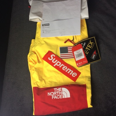 Supreme The North Face Yellow Trousers Medium