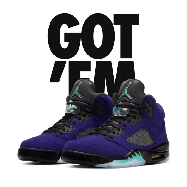 Air Jordan V Retro Alternate Grape 5 Reverse 10.5