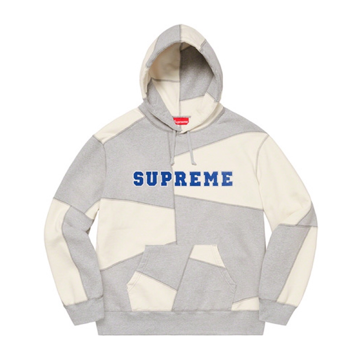 Supreme Patchwork Hooded Sweatshirt Heather Grey